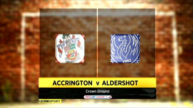 Accrington 0-0 Aldershot