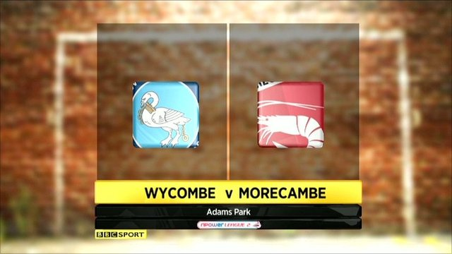 Wycombe v Morecambe