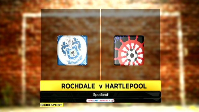 Rochdale 0-0 Hartlepool
