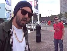Rhys and Eggsy from Goldie Lookin Chain