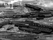 Shotton Steelworks' site in 1970s, courtesy Corus archives