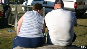 An overweight couple