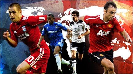 Joe Cole, Didier Drogba, Gareth Bale, Dimitar Berbatov