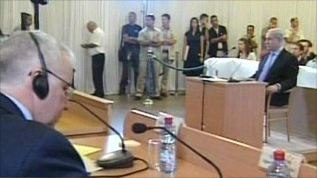 Benjamin Netanyahu giving evidence