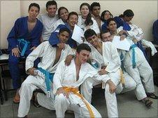 A judo class at Colegio Certo
