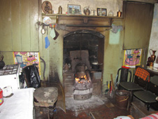 The inside of a miner's cottage