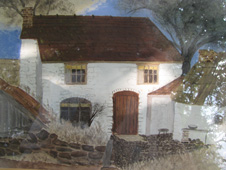 A Stiperstones cottage painted by a war time evacuee