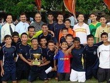 Sports team at St. Stephen's School
