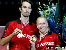 Nathan Robertson and former doubles partner Gail Emms