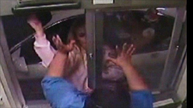 surveillance video for alleged attack