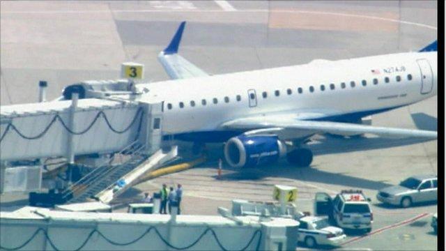 Plane at JFK airport