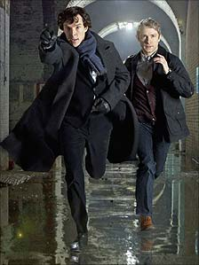 Benedict Cumberbatch and Martin Freeman in Sherlock