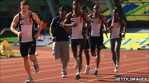UK athletes training