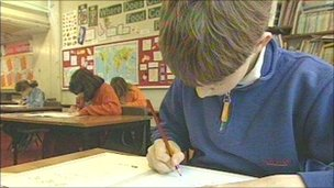 Pupils taking Key Stage 2 test