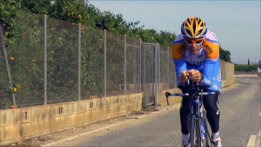 Cyclist David Millar
