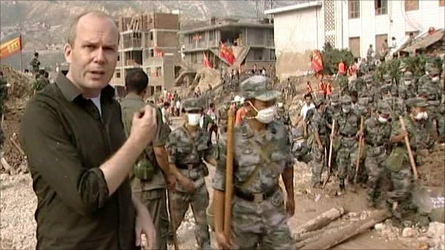 The BBC's Chris Hogg decribes the devastation in Gansu province