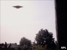 Undated photo purporting to show a UFO