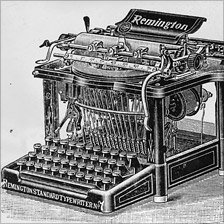 A Remington typewriter from 1880