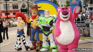 Characters from Toy Story 3 at the UK premiere of the film