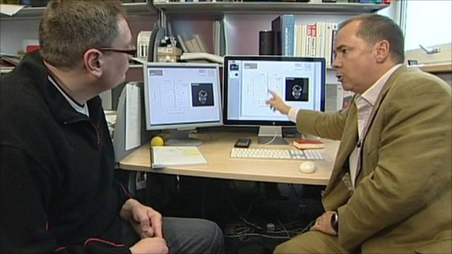 Doctor explaining scan results to patient