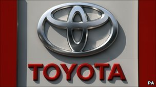 File image of a Toyota badge