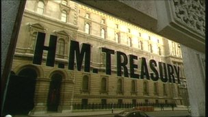 Treasury sign