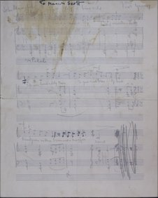 Ivor Gurney manuscript
