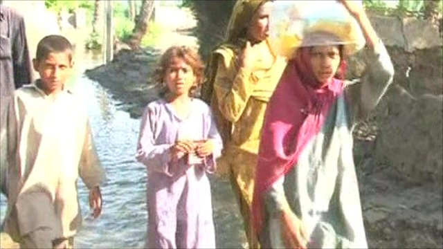 Pakistan flood victims