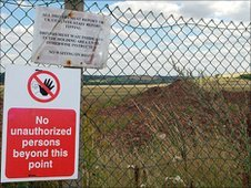 Orgreave brownfield site near Sheffield
