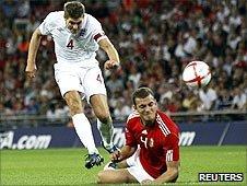 Steven Gerrard scores England's equaliser