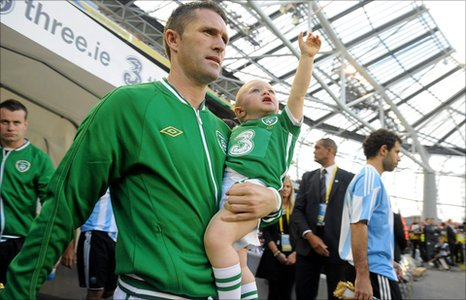 Robbie Keane and his son Robbie Jnr