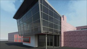 Artist's impression of new Redcar fire station