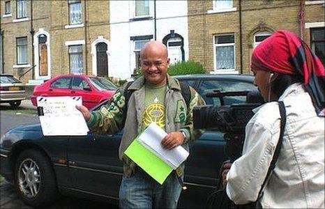 Malaysian film crew in Bradford