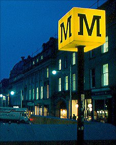 Tyne and Wear Metro sign