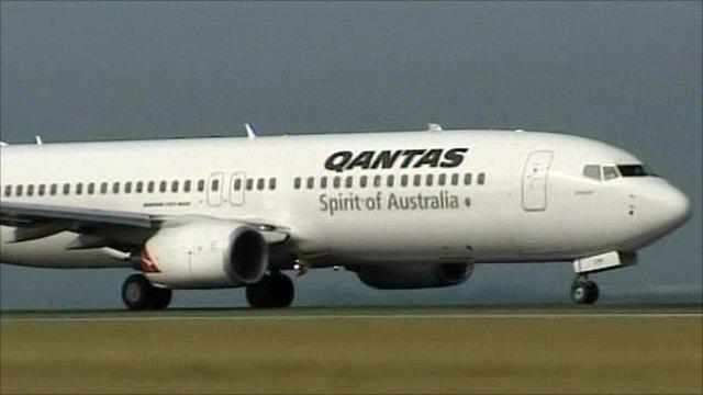 Qantas aeroplane