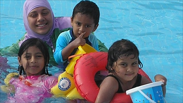 Family on a halal holiday