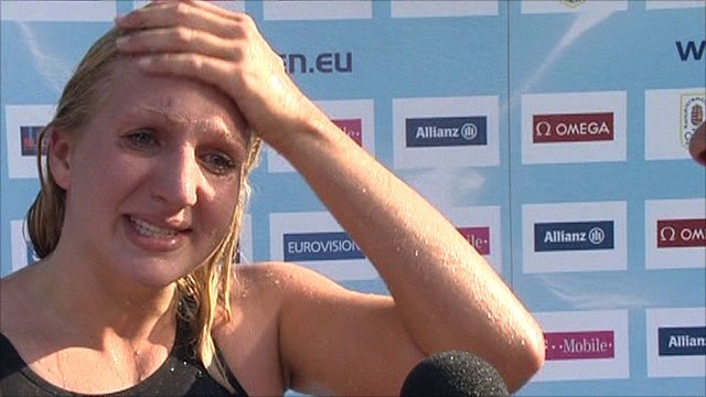 An emotional Rebecca Adlington