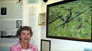 Joyce Warren at the Tangmere Museum