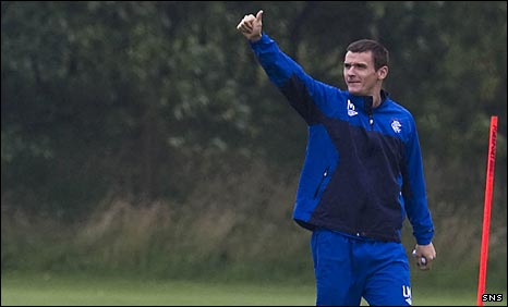 Lee McCulloch shows his delight as he prepares for the new season