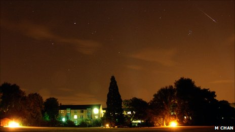 Meteor shower seen in Oxford, UK (Image: May Chan)