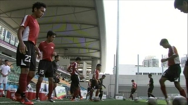 Singapore's Youth Olympics football team
