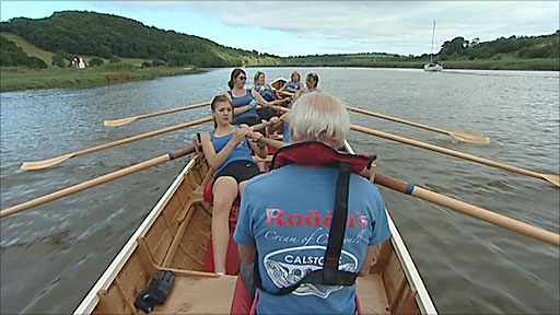 Rowing on the Tamar