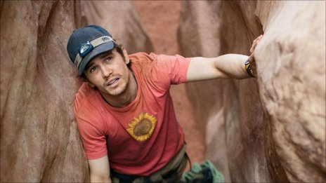 James Franco as Aron Ralston in 127 HOURS Photo credit: Chuck Zlotnick