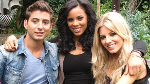 Ricky with Rochelle and Mollie from The Saturdays