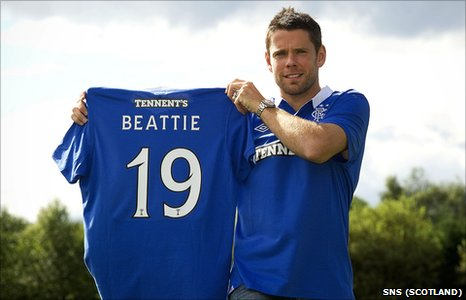 James Beattie shows off his new colours