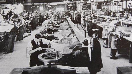 Spitfire production in Vincent Garage