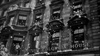 A flurry of ticker tape outside British Columbia House in London, after the announcement of victory in the Far East.