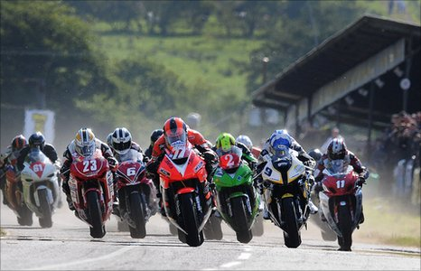 Racing starts at the Ulster GP on Saturday as the  Superstock riders move off the grid