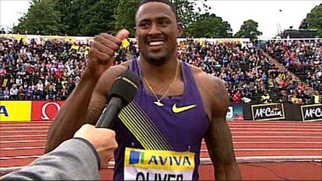 US athlete David Oliver