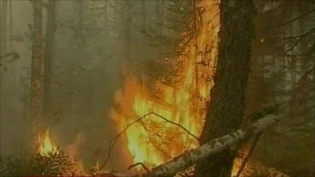 Fire in Russia